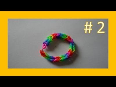LEKCJA #2 - Gumki Rainbow Loom - MatyldaTV - bransoletki z gumek - tęczowa bransoletka