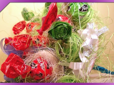 DIY Bukiet z lizaków. Lollipop bouquet (+ENG Annotations) - Na szybko #24