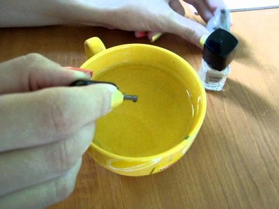 Tutorial: Wzorki lakierem na wodzie.