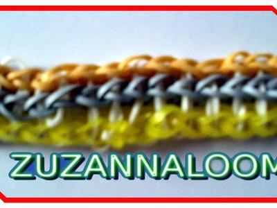 Bransoletka z loom bands potrójna bransoletka na widelcach