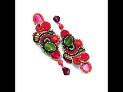 Soutache jewelery - SAADIA - biżuteria sutasz