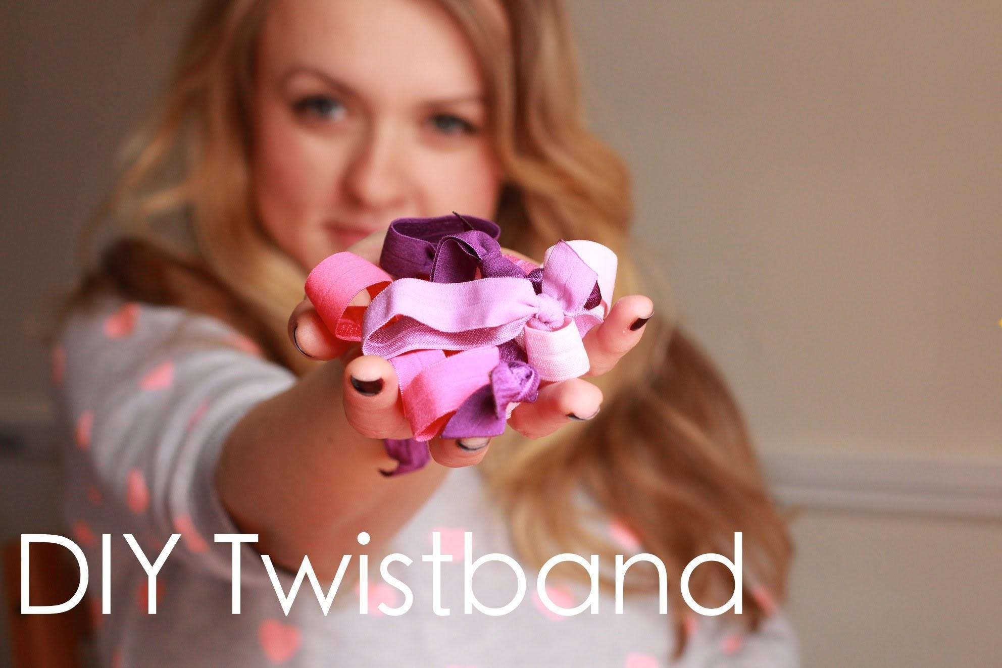DIY Twistband, czyli kolorowe gumki do włosów