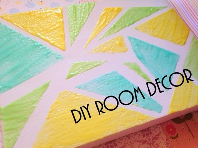 DIY room decor - szybki i latwy obraz - tutorial