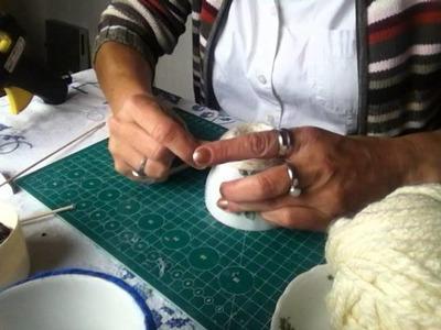 DIY Sposób na prezent*Wisząca filiżanka z ziarenkami kawy*Tutorial Handarbeit * 1 #