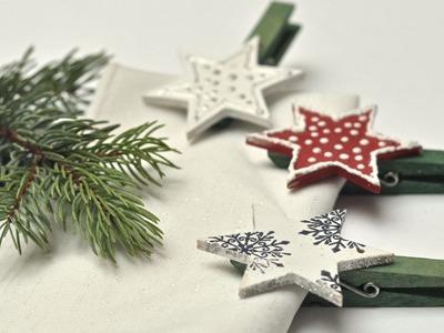Klamerki świąteczne - jak zrobić prostą ozdobę stołu wigilijnego
