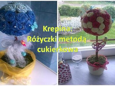Krepina.crepe paper - jak zrobić różyczki metodą cukierkową