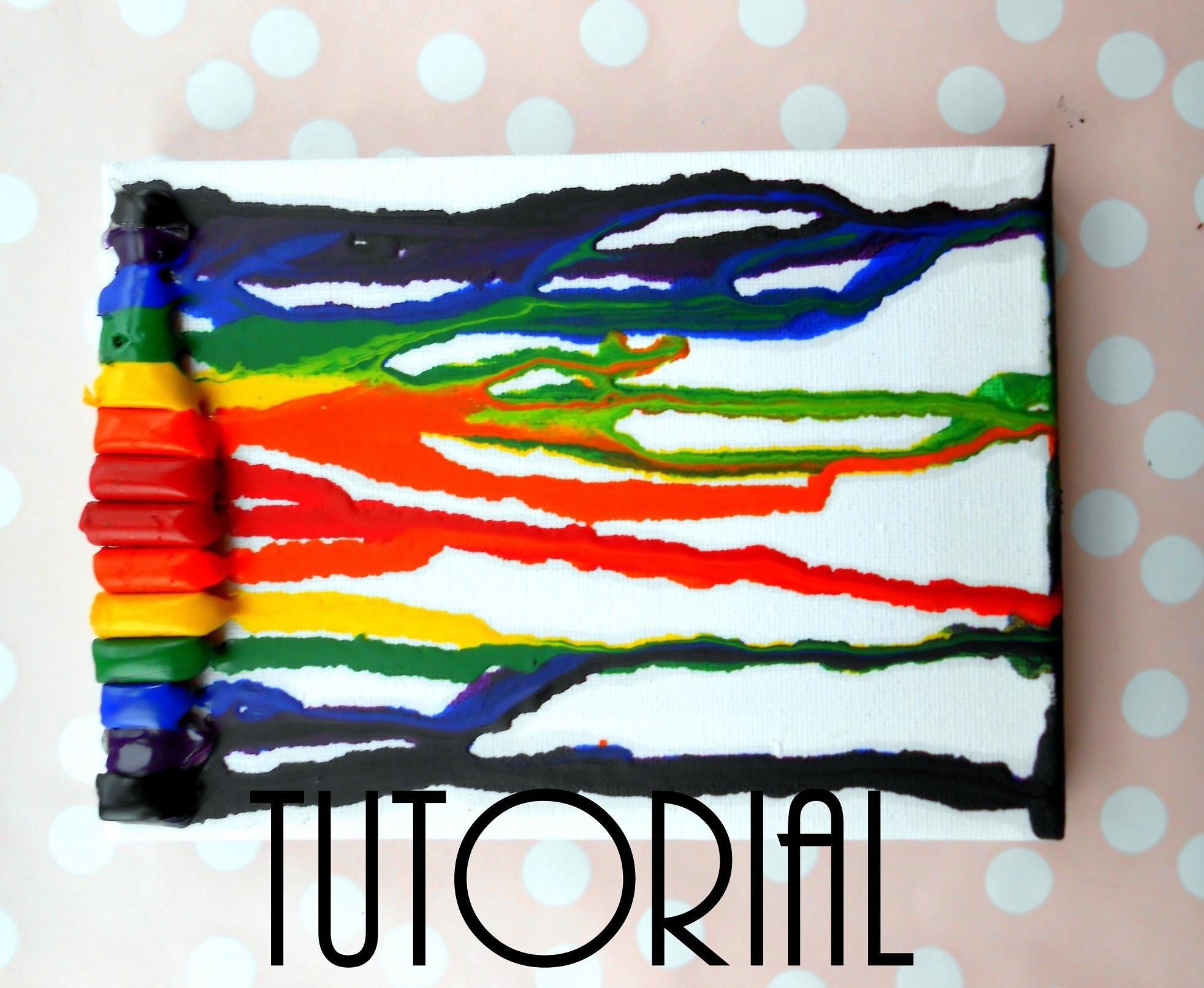 Tutorial - Obraz z kredek świecowych