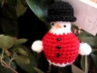 9 crochet snowmen
