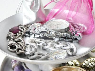 DIY stojak na biżuterię