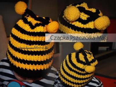 Jak zrobić na szydełku czapkę Pszczółka Maja. Bee hat