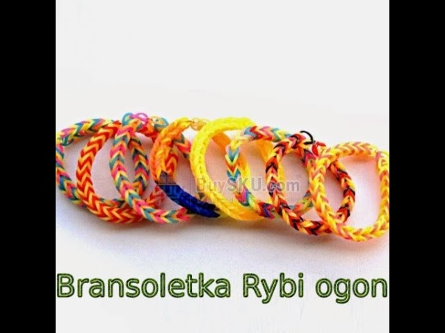 Rainbow Loom Bransoletka Rybi Ogon