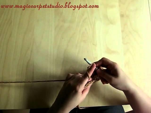 Back-post double crochet, czyli słupek tylno-nóżkowy