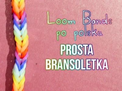 Prosta bransoletka - Loom Bands po polsku!