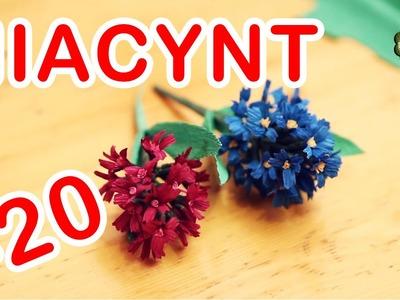 Kwiatki z bibuły #20 - hiacynt