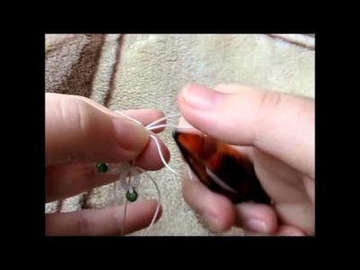 Maranta i frywolitki - montowanie zapięcia na kółeczku