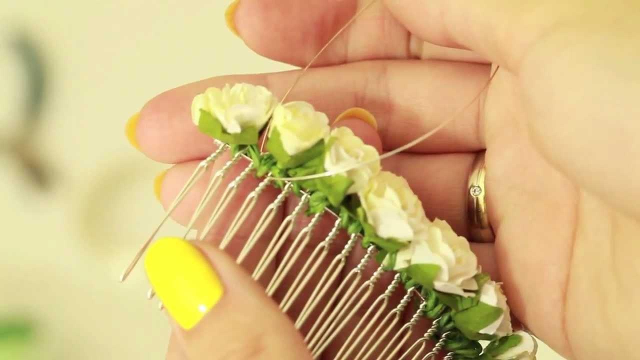 Ślubna ozdoba do włosów - Modowe DIY