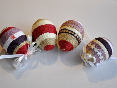 Pisanki ze sznurka # Easter egg DIY