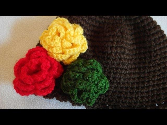 Kwiatek na szydełku. jak zrobić prosty kwiatek szydełkowy. flower crochet