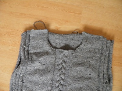 Sweter męski part 3 wycięcie pod szyje