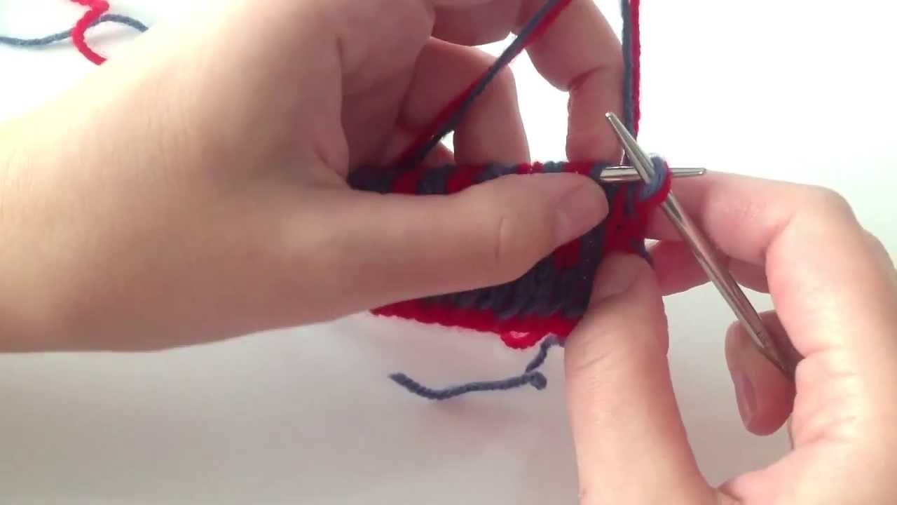 Żakard dwustronny - double knitting - cz. 06