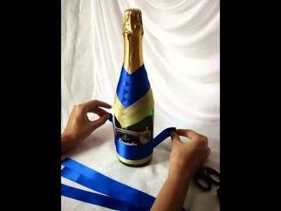 Dekoracja butelki -krok po kroku
