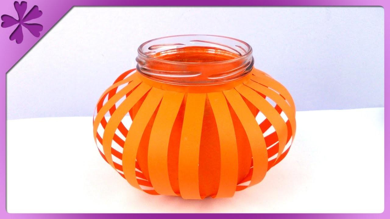 DIY Lampion Halloween. Halloween lantern (+ENG Subtitles) - Na szybko #146