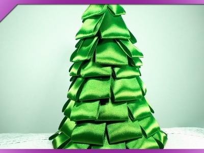 DIY Choinka z tasiemki. Ribbon Christmas tree (+ENG Annotations) - Na szybko #51