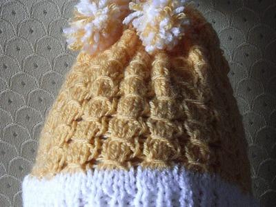 DIY Prosta czapka dla dziecka na drutach crochet Tutorial Handarbeit