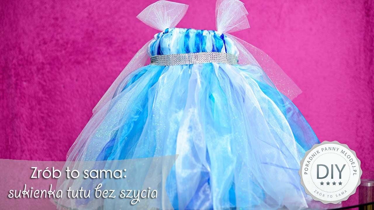 DIY : Sukienka TUTU bez szycia - zrób to sama krok po kroku