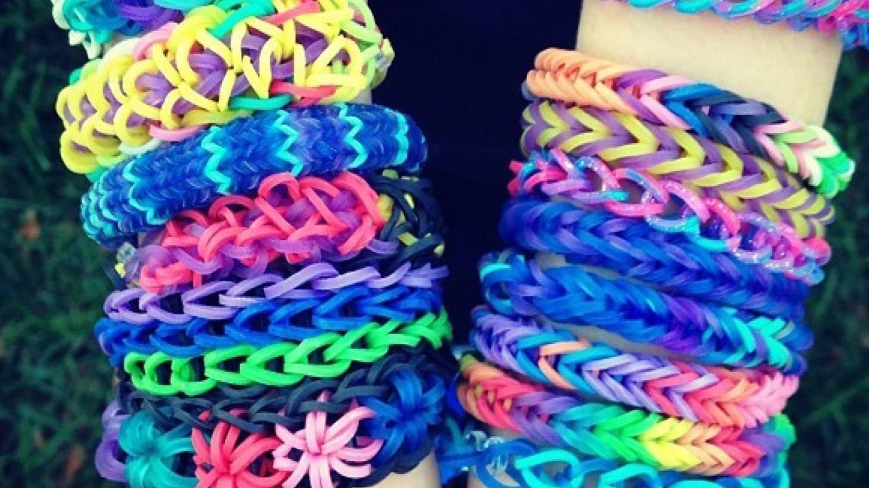 Rainbow Loom - Finger Loom - Bransoletka - własne krosno & szydełko - Kolorowe gumeczki na rękę