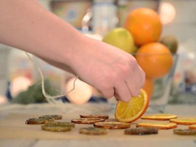 DIY dried oranges slices. Suszone pomarańcze na choinkę - jak zrobić? Tutorial