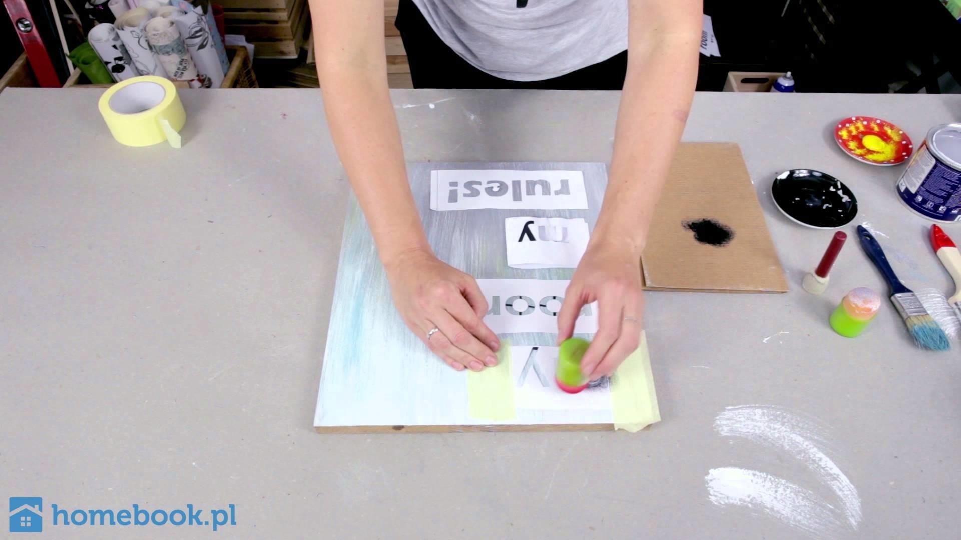 DIY: Jak zrobić oryginalny, spersonalizowany obrazek ze starej deski?