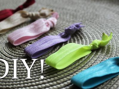 DIY Jak zrobić twistband - elastyczne gumki do  włosów
