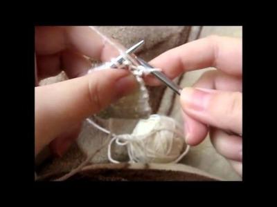 Maranta i druty - oczka brzegowe