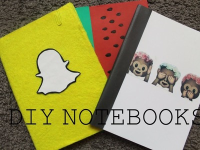 Back to school#2 DIY NOTEBOOKS