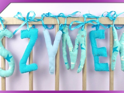 DIY Literki z materiału. Fabric letters (+ENG Subtitles) - Na szybko #131