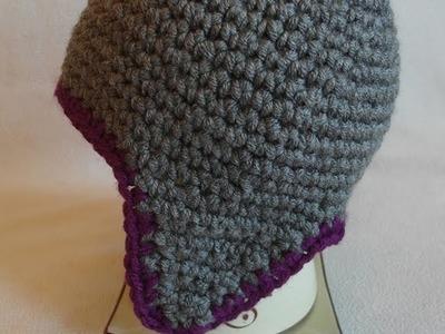 Szydełkowa czapka z pomponem. crochet beanie. czapka na szydełku. prosta czapka