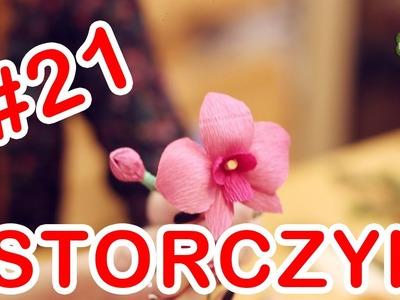 Kwiatki z bibuły #21 - storczyk
