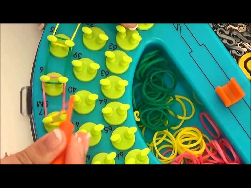 Jak zrobić Bransoletkę z gumek - FriendlyBands, Sunshine Loom prosty wzór