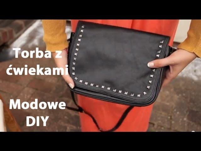 "Torebka ""vintage"" z ćwiekami. Studded handbag - Modowe DIY"