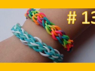 LEKCJA #13 - Gumki Rainbow Loom - MatyldaTV - bransoletki z gumek - zimowa przeplatanka #1
