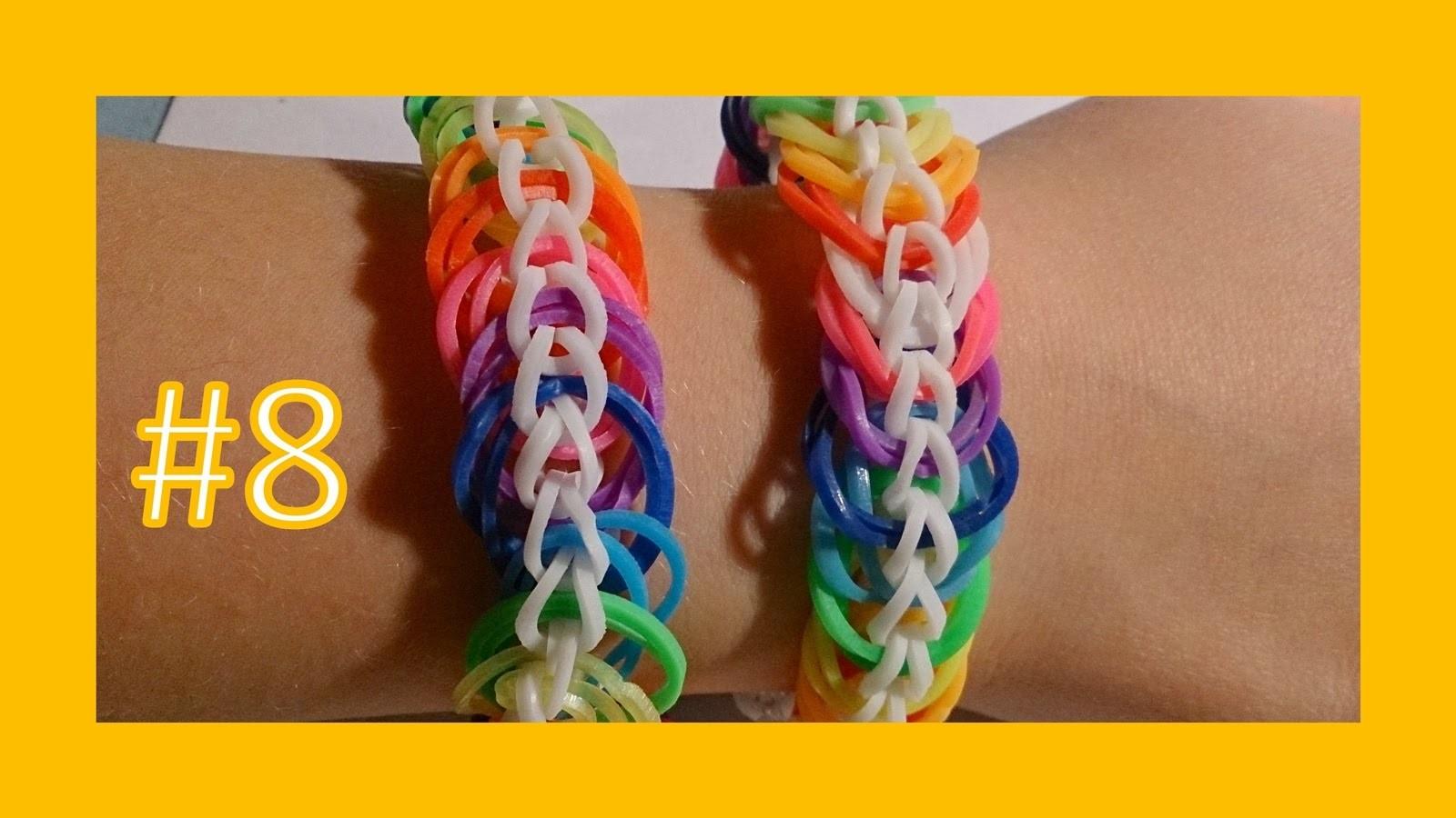 LEKCJA #8 - Gumki Rainbow Loom - MatyldaTV - bransoletki z gumek - podwójny łańcuch. double chain