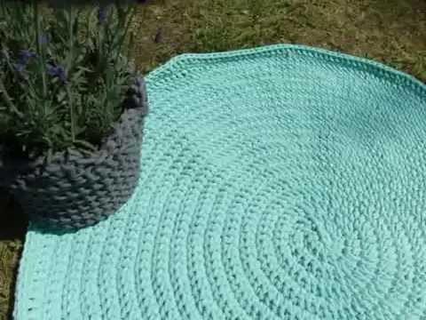 Dywanik na szydełku, dywanik szydełkowy. dywanik ze sznurka. sznurkowy chodnik. crochet