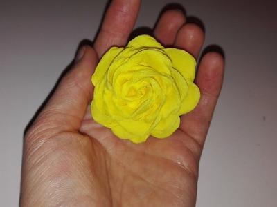 Jak zrobić różę z bibuły marszczonej. How to make a tissue paper rose