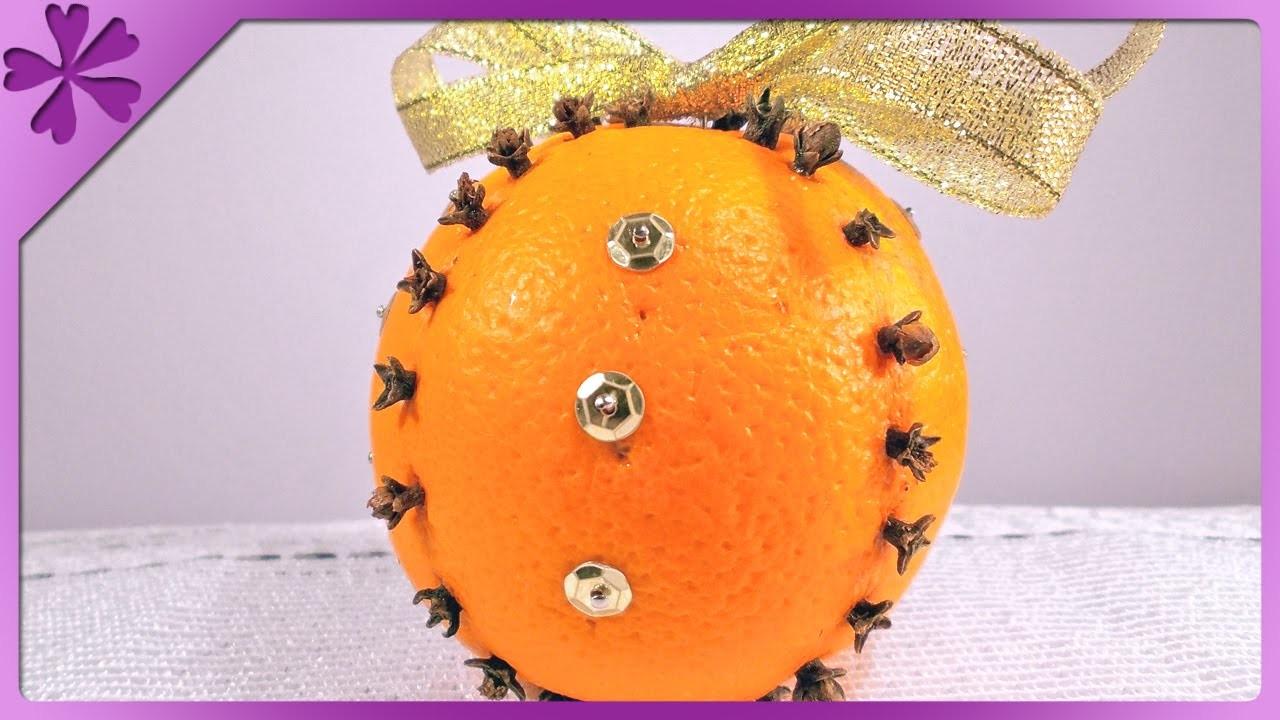 DIY Ozdoba z pomarańczy. Clove orange decoration (+ENG Annotations) - Na szybko #50