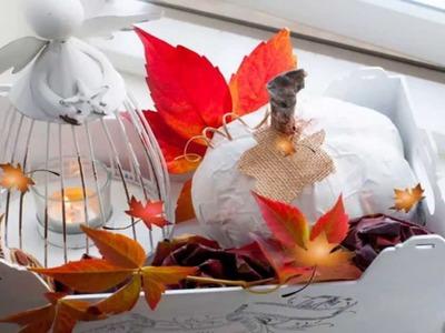 Jesienna dekoracja - dynia.paper mache pumpkin