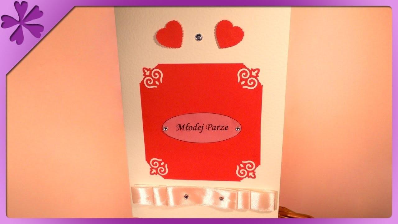DIY Pamiątka Ślubna, kartka. Wedding Card (+ENG Annotations) - Na szybko #14