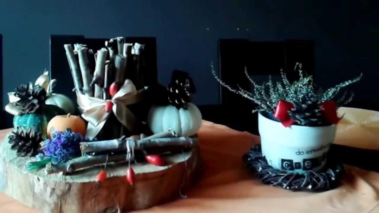DIY Jesienne dekoracje  ,stroiki