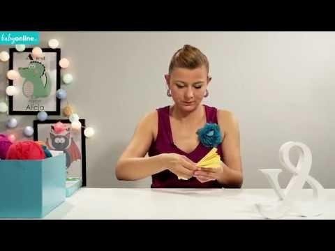 Jak zrobić pompon na baby shower, urodziny - DIY