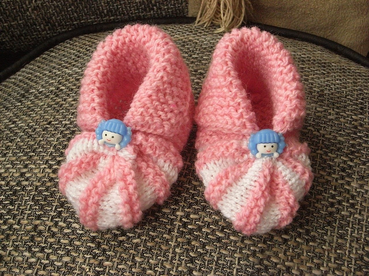 Buciki dla noworodka*DIY Niemowlęce bucik na drutach* baby boots*Tutorial